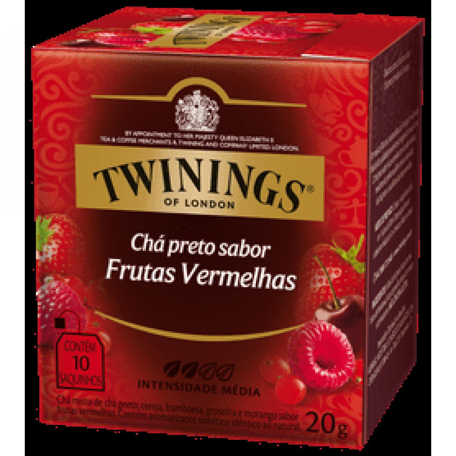 Chá Preto Frutas Vermelhas 20g