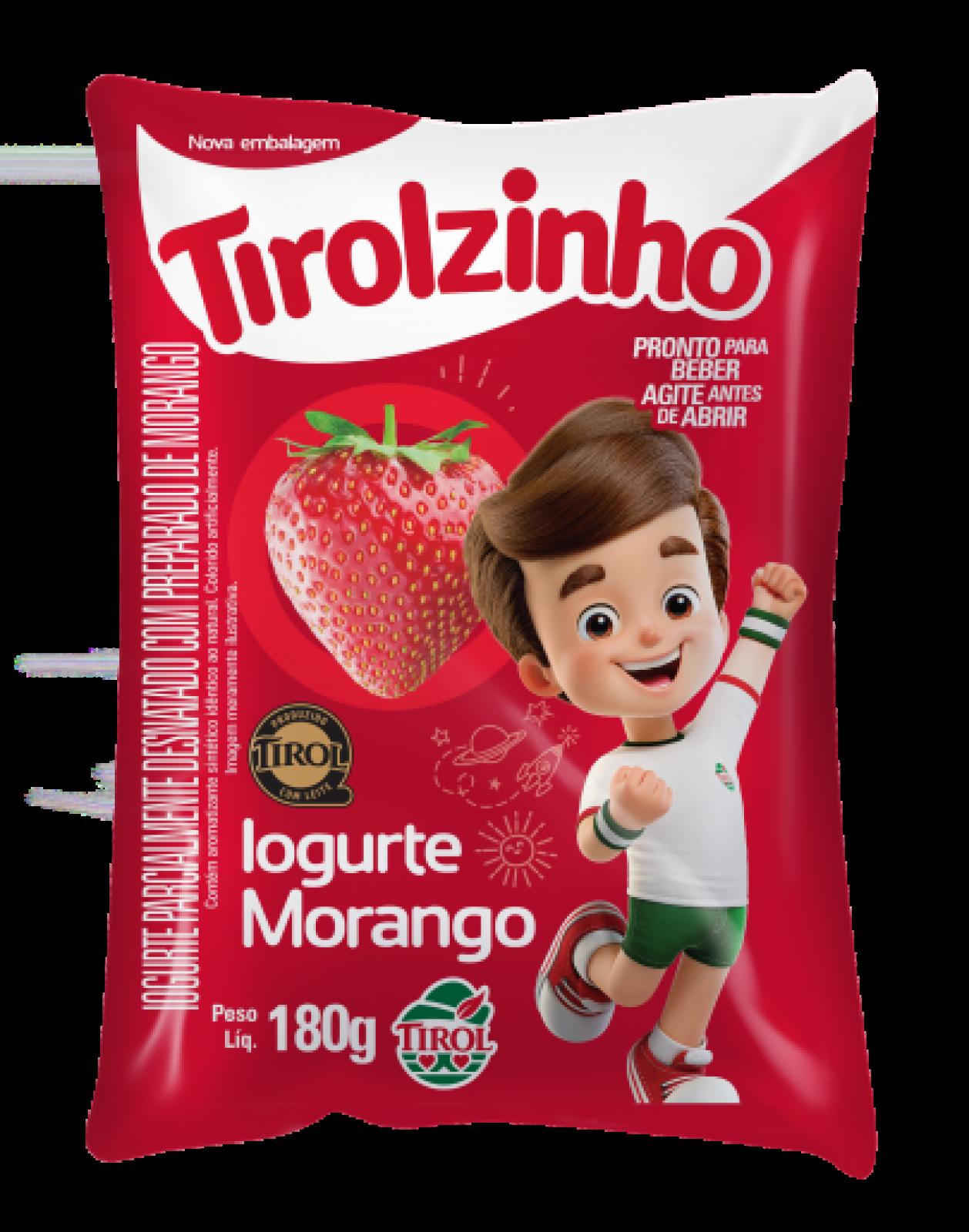 Iogurte Morango Tirolzinho 180g