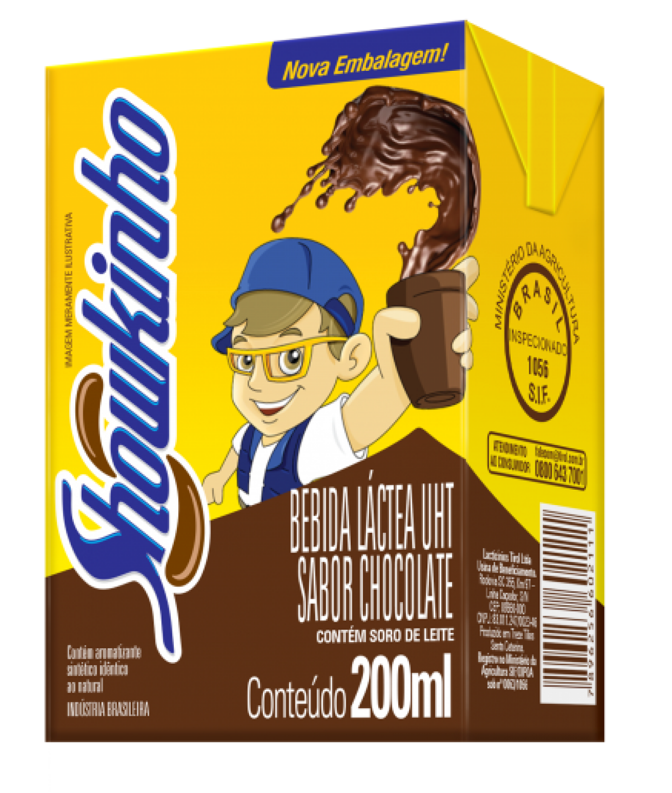 Bebida Láctea Chocolate Showkinho 200ml