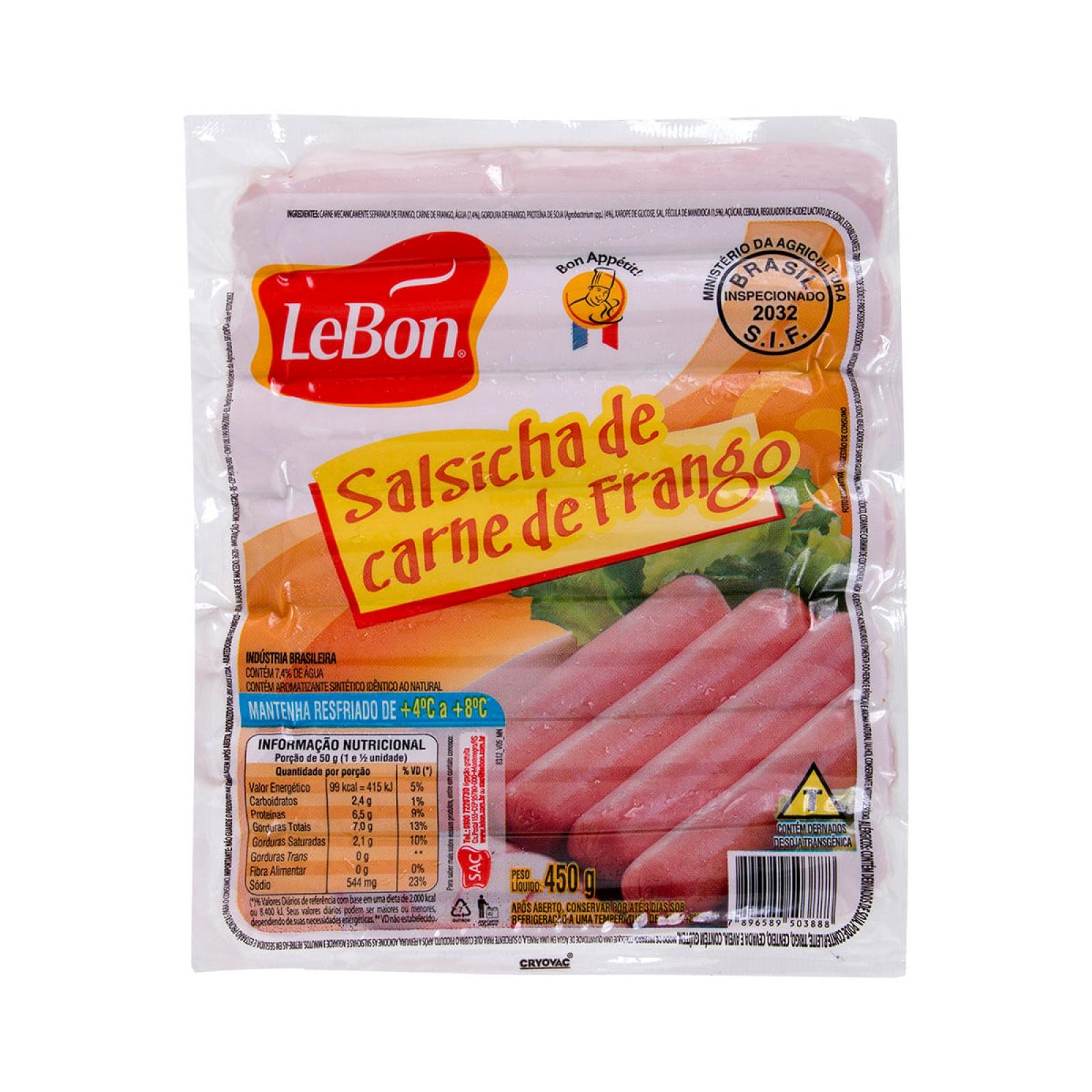 Salsicha de Frango 450g